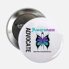 """Purple & Teal Butterfly 2.25"""" Button"""