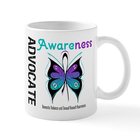 Purple & Teal Butterfly Mug