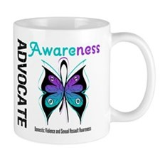 Purple & Teal Butterfly Mug