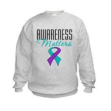 Purple & Teal Ribbon Sweatshirt