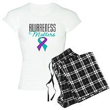 Purple & Teal Ribbon Pajamas