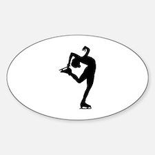 Figure Skating Sticker (Oval)