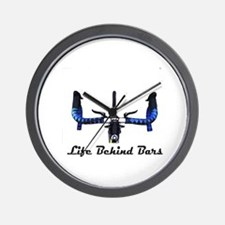 Life Behind Bars Wall Clock