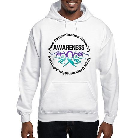 Purple & Teal Tribal Hooded Sweatshirt