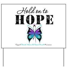 Purple & Teal Hope Yard Sign