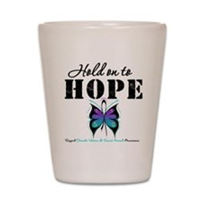 Purple & Teal Hope Shot Glass