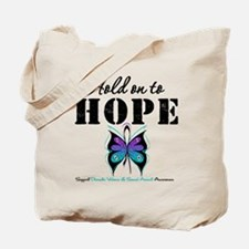 Purple & Teal Hope Tote Bag