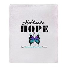Purple & Teal Hope Throw Blanket