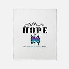 Purple & Teal Hope Throw Blanket