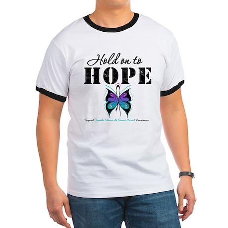 Purple & Teal Hope Ringer T