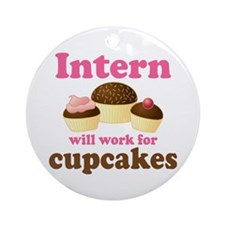 Funny Intern Ornament (Round)