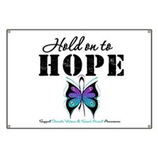 Purple & Teal Hope Banner