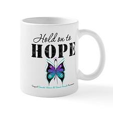 Purple & Teal Hope Small Mug