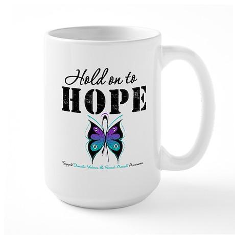 Purple & Teal Hope Large Mug