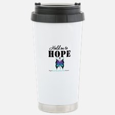 Purple & Teal Hope Travel Mug