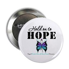 "Purple & Teal Hope 2.25"" Button"