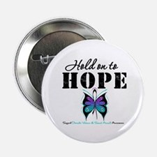 """Purple & Teal Hope 2.25"""" Button"""