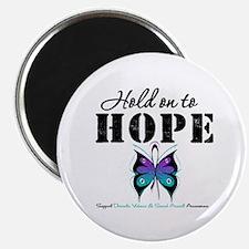 """Purple & Teal Hope 2.25"""" Magnet (100 pack)"""