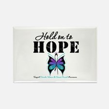 Purple & Teal Hope Rectangle Magnet