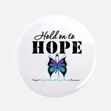 "Purple & Teal Hope 3.5"" Button"