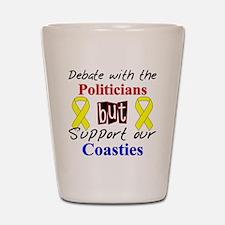 Debate Politicians Support ou Shot Glass
