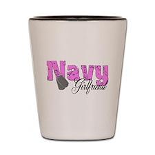 Navy Girlfriend Shot Glass