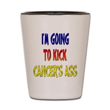 Kick Cancer's Ass ver3 Shot Glass
