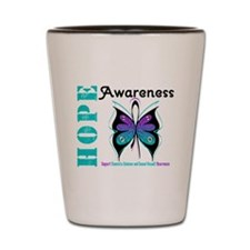 Purple & Teal Hope Deco Shot Glass