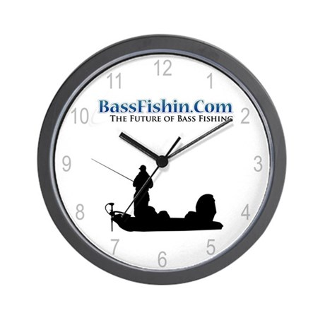BassFishin.Com Wall Clock