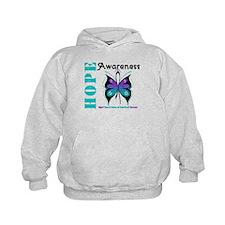 Purple & Teal Hope Deco Hoodie