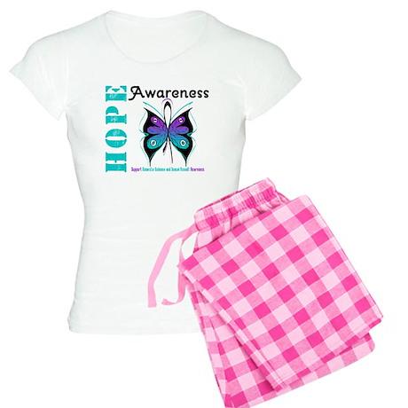 Purple & Teal Hope Deco Women's Light Pajamas