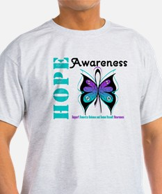 Purple & Teal Hope Deco T-Shirt