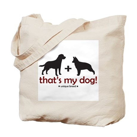 Lab/Shepherd Tote Bag