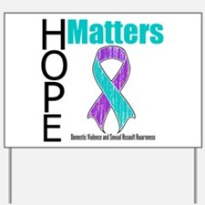 Hope Matters Purple & Teal Yard Sign