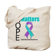 Hope Matters Purple & Teal Tote Bag