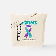 Hope Matters Purple & Teal Tote Bag