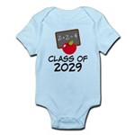 School Class Of 2029 Apple Infant Bodysuit