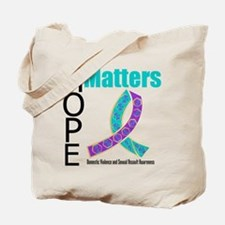 Purple & Teal Hope Matters Tote Bag