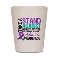 Take A Stand Teal & Purple Shot Glass