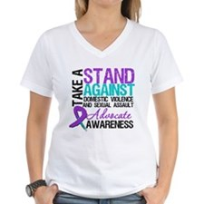 Take A Stand Teal & Purple Shirt