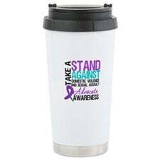 Take A Stand Teal & Purple Travel Mug