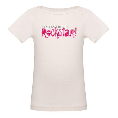 I Potty Like A Rockstar! Organic Baby T-Shirt
