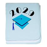 2029 Graduation Hat Logo baby blanket