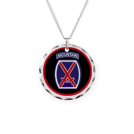 10th Mountain Division Necklace Circle Charm