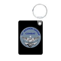 12th Aviation Combat Group Aluminum Photo Keychain