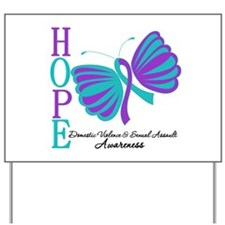 Hope Butterfly Teal&Purple Yard Sign