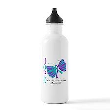 Hope Butterfly Teal&Purple Water Bottle