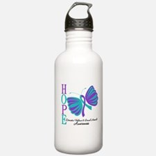 Hope Butterfly Teal&Purple Water Bottle