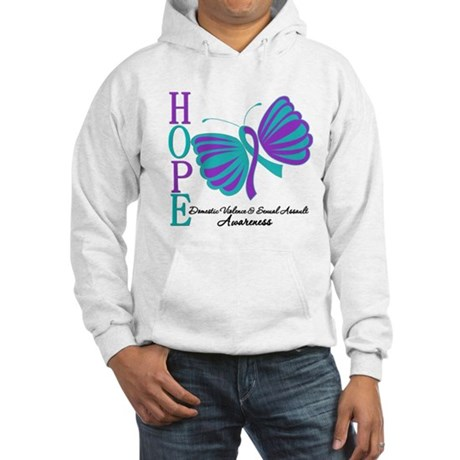Hope Butterfly Teal&Purple Hooded Sweatshirt