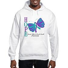 Hope Butterfly Teal&Purple Hoodie